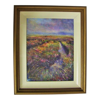 Irish Oil on Canvas of Clifden Bog by Seamus Coleman For Sale