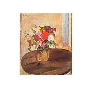 1947 Suzanne Valadon, Fleurs Original Parisian Lithograph For Sale
