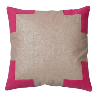 """Piper Collection Pink """"Tracy"""" Pillow For Sale"""