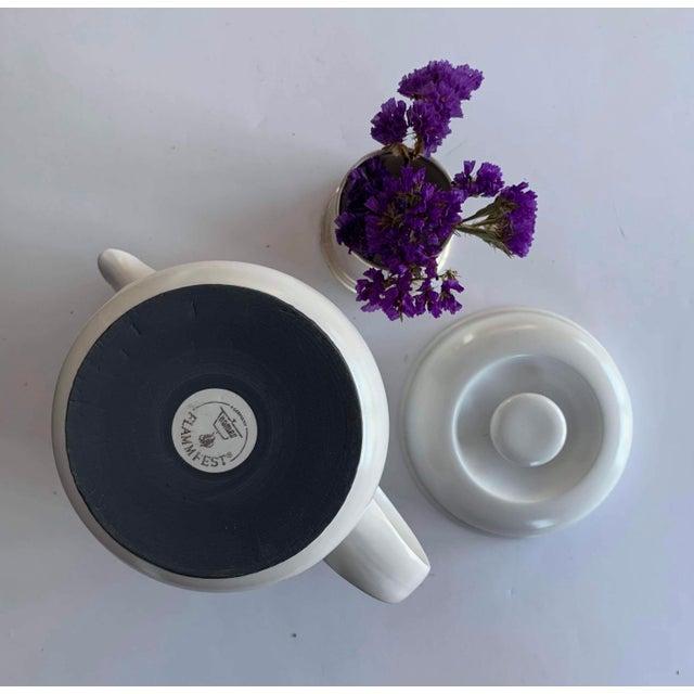 1970s Vintage Flammfest Thomas Rosenthal Germany Tea Coffee Pot White For Sale - Image 5 of 6
