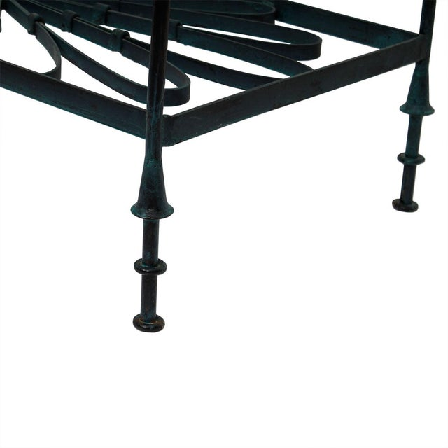 Decorator Wrought Iron & Glass Coffee Table - Image 4 of 7