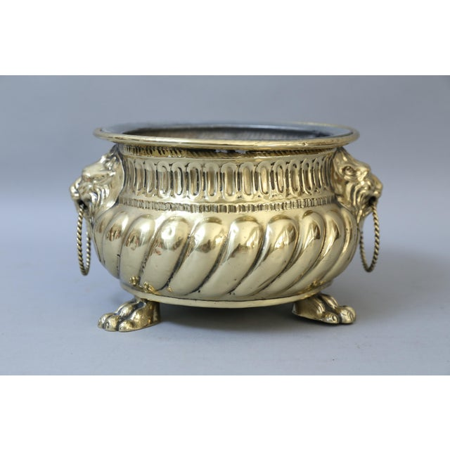 Early French Brass Jardiniere with Original Zinc Liner - Image 7 of 7