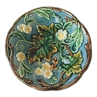 19th Century Cottage Rörstrand Majolica Plate For Sale