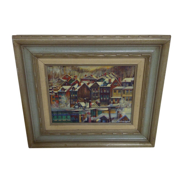 """Row Houses Pittsburgh"" by Robert Schmalzried For Sale"