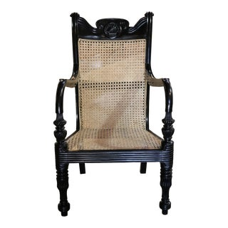 Ebony Grandfather Chair For Sale