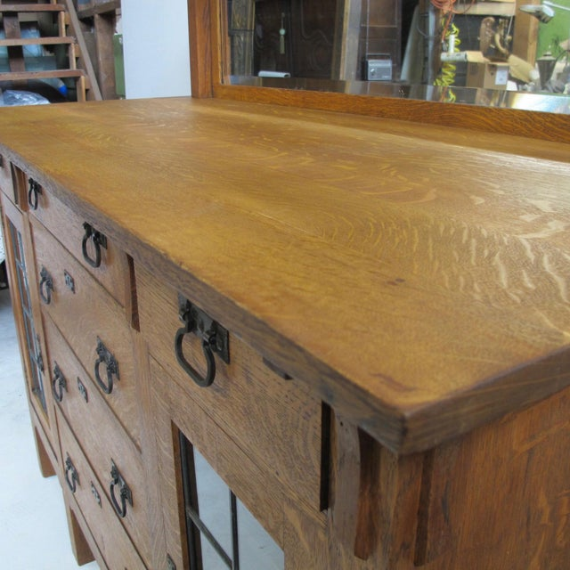 Arts & Crafts Mission Oak Sideboard Buffet For Sale In San Francisco - Image 6 of 7