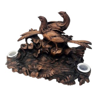 Late 19th Century German Black Forest Ink Stand For Sale