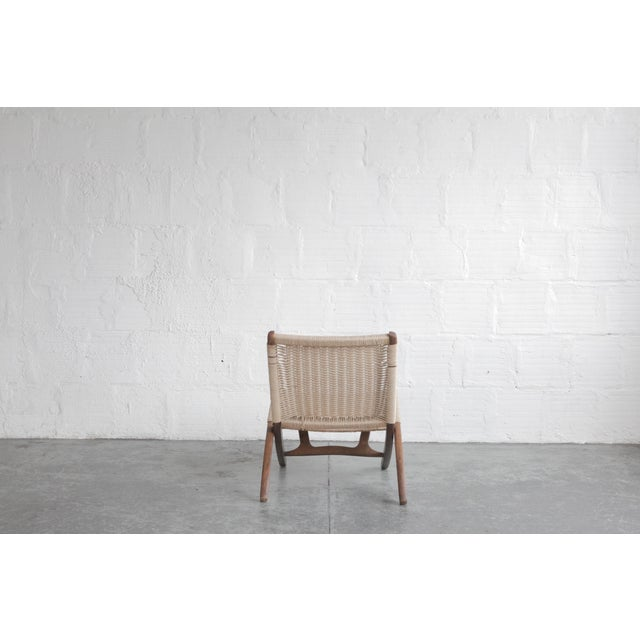 Mid-Century Modern Early 20th Century Cord Lounge Chair For Sale - Image 3 of 8
