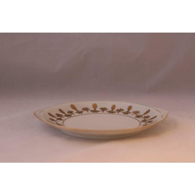 Antique Austrian Porcelain Octagonal Plate For Sale - Image 4 of 5