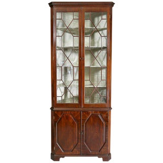 George III Mahogany Corner Cabinet For Sale