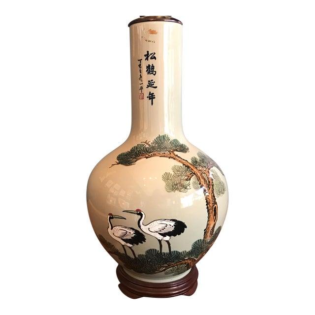 Vintage Asian Celadon Ceramic Lamp - Image 1 of 8