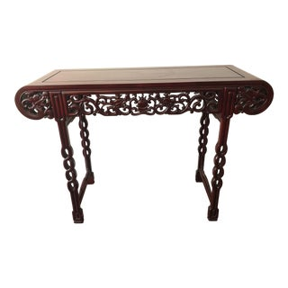 Vintage Asian Chinese Hand Crafted Alter Table For Sale