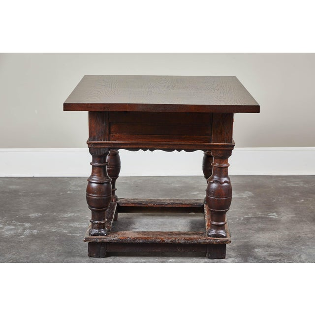 Baroque 18th Century Danish Baroque Table With Turned Legs For Sale - Image 3 of 10