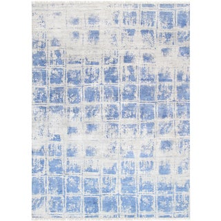 Pasargad Home Modern Silk Area Rug- 8′ × 10′2″ For Sale