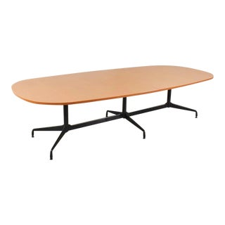 Extra Long 120 Inch Segmented Base Elliptical Table by Eames for Herman Miller For Sale