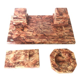 Deco Rouge Marble Desk Set