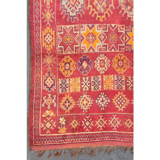 Keivan Woven Arts, S12-0410, Vintage Mid-Century Moroccan Rug - 5′4″ × 10′. This gorgeous antique Moroccan carpet from the...