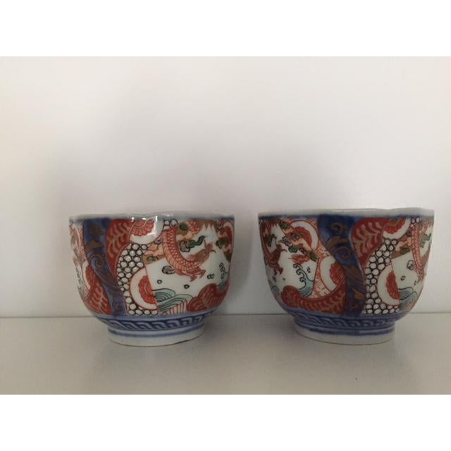 ANTIQUE JAPANESE COLORED IMARI PORCELAIN TEACUPS FOR TEA CEREMONY. . Purchased in Tokyo, Japan between 1975-1978 at...