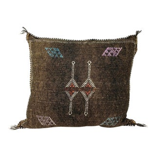 Authentic Moroccan Sabra Silk Pillow For Sale