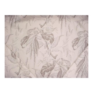 Lee Jofa Camille Sand Grey Willow Cotton Print Upholstery Fabric - 18 1/4 Yards For Sale