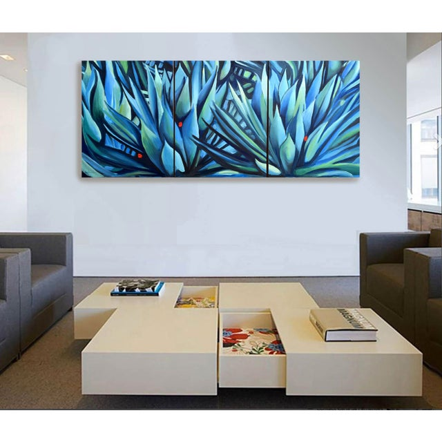 Canvas 'Song of Dark Leaves' Oil Painting (Featured) For Sale - Image 7 of 9