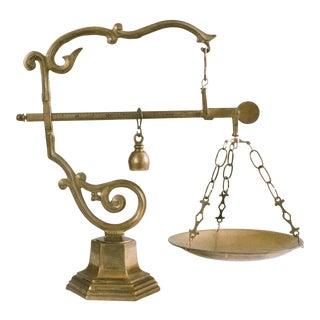Vintage Brass Balance Scale
