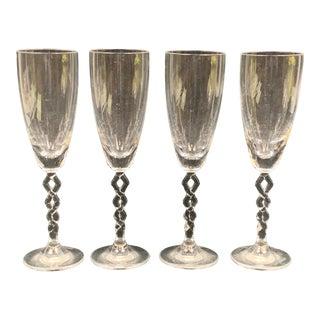Vintage Marc Aurel Champagne Glasses-Set of 4 For Sale