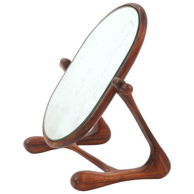 Sculptural Studio Cocobolo Mirror For Sale In Phoenix - Image 6 of 6