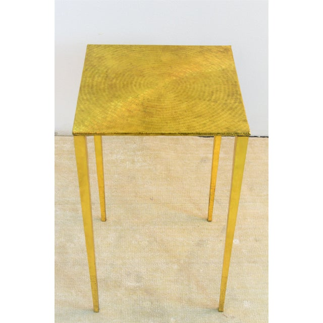 2010s Modern Bungalow 5 Eugene Polished Brass Side Table For Sale - Image 5 of 5