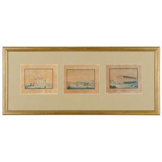 Neapolitan School Miniature Gouache Paintings - Set of 3