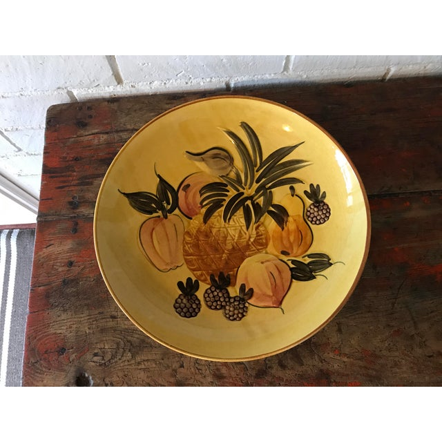 Vintage Pottery Large Shallow Fruit Bowl - Image 4 of 10