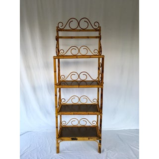 20th Century Boho Chic Rattan Etagere Preview