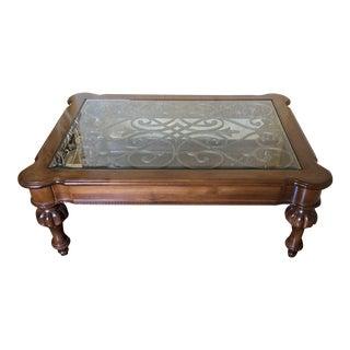 Ethan Allen Regency Style Coffee Table For Sale