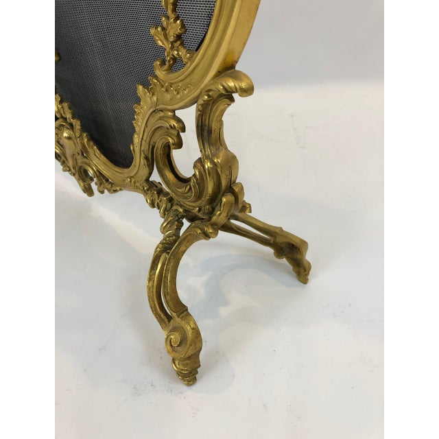 Bronze Dore Fireplace Screen With Putti, 1950s For Sale - Image 9 of 11