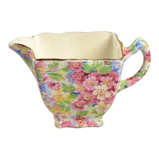 James Kent (England) Apple Blossom Chintz Creamer For Sale