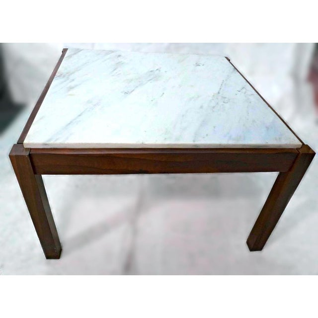 Danish Modern Rosewood & Marble Coffee Table - Image 9 of 10