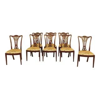 Henkel Harris Model 108 Mahogany Dining Room Chairs - Set of 8