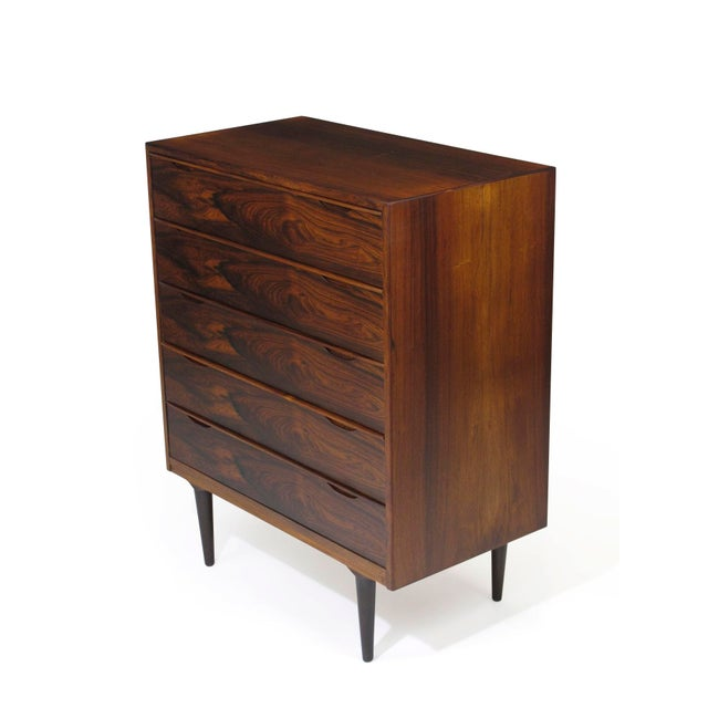 Vintage Mid Century Danish Brazilian Rosewood Chest of Drawers For Sale - Image 4 of 12
