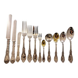 Paris by Gorham Sterling Silver Flatware Set Art Nouveau Cherubs 159 Pcs Dinner For Sale