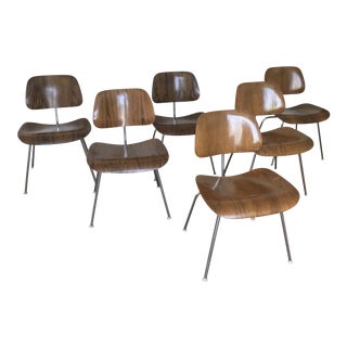 Mid Century Herman Miller Eames Rosewood Dcm Chairs - Set of 6 For Sale