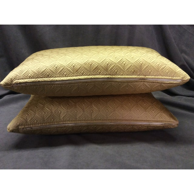 Custom Made Gold Pillows - Pair - Image 5 of 6