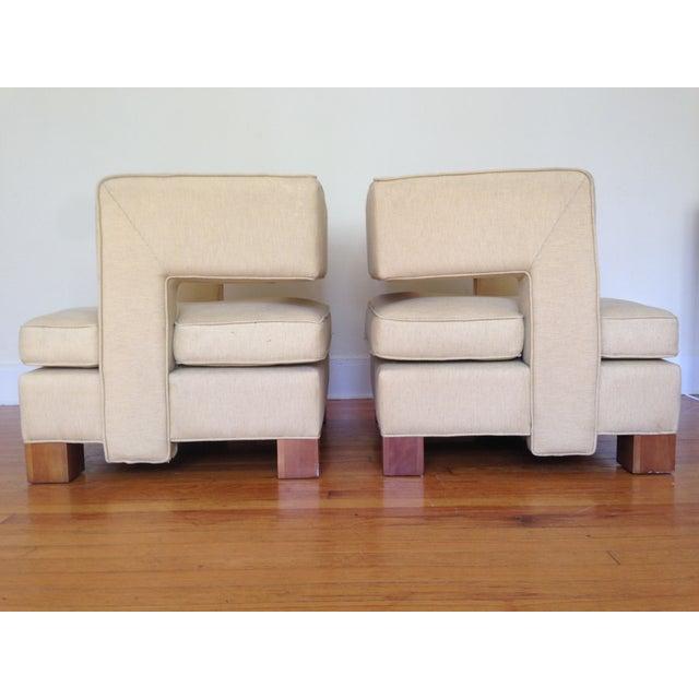 Vintage Club Chairs - Pair - Image 4 of 6