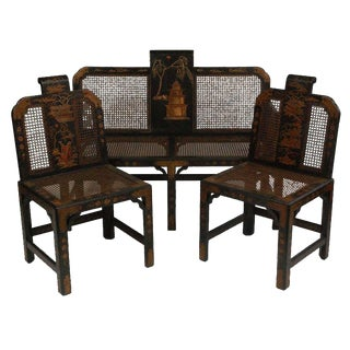 Chinoiserie Seating Suite For Sale