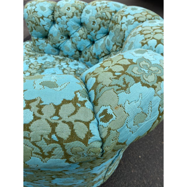 Vintage Floral Chesterfield Arm Chair For Sale In Phoenix - Image 6 of 9