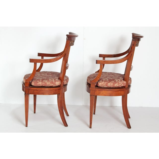 Pair of Italian Neoclassical Armchairs For Sale In Dallas - Image 6 of 13