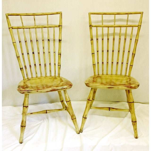 Painted Birdcage Windsor Chairs - A Pair - Image 2 of 11