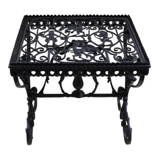 1920 Wrought Iron Side Table
