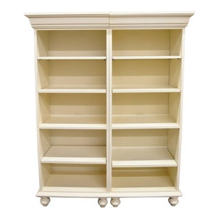 Ethan Allen French Country Colonial Bookcases-a Pair For Sale