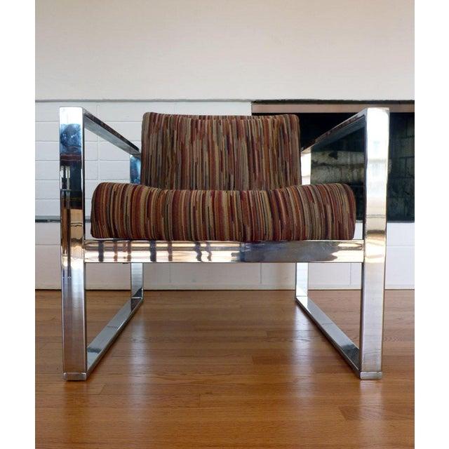 Milo Baughman MCM Chrome Lounge Chair - Image 3 of 9