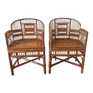 Vintage Brighton Bamboo Pavillion Chairs - a Pair